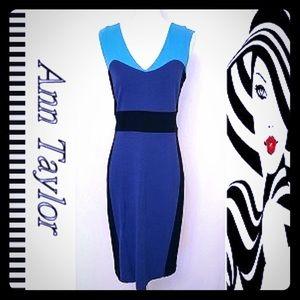 Stylish Ann Taylor Short Sleeve Midi Dress